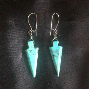 Turquoise Spear Shape Earrings